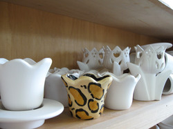 Tulip candle holder - leopard