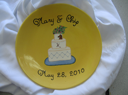 Wedding Plate - Congrats Mary & Chip!