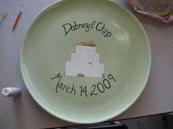Wedding Plate - Congrats Dabney & Chip!