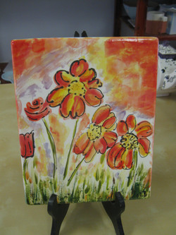 """""""Canvas"""" pottery - flowers!!"""