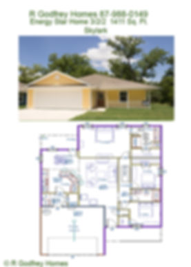 Skylark Floor floor plan &  Pic of  Finished House