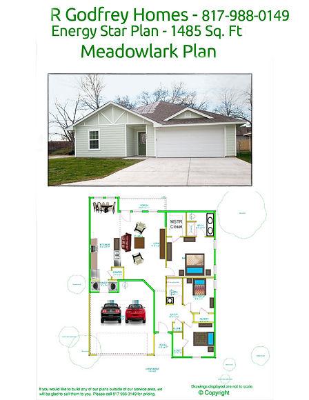 MeadowLark Floor Plan - 1485 sq ft.