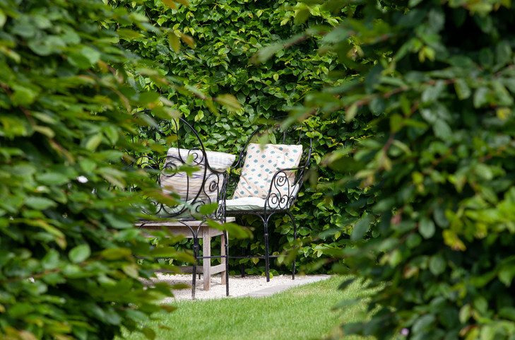 Guests' secluded garden
