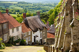 Famous view of Picturesque cottages on c