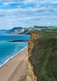 Dorset England UK coastline beaches Brid