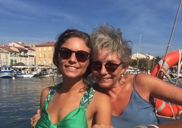 Mon amie Laure avec sa fille Lola