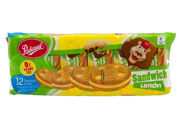 Galleta Sandwich de Limon Pascual (12 unidades de 30g)