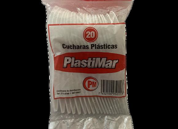 Cucharas Plasticas Plastimar 20 unidades