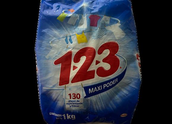 Detergente 123 Azul 1000gr