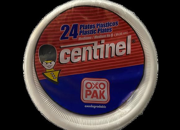 Platos Plasticos N8 Centinel