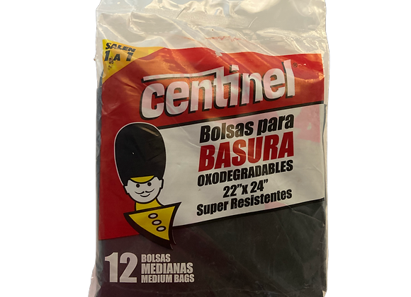Bolsas para Basura Oxo Resistente Centinel 22X24