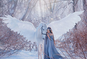 fantasy beautiful woman goddess stroking