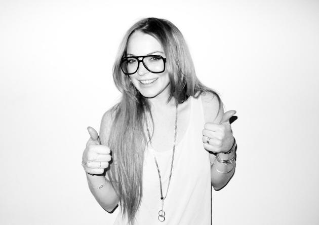Lindsay Lohan in Glasses