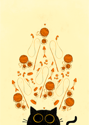Cat Love - illustration