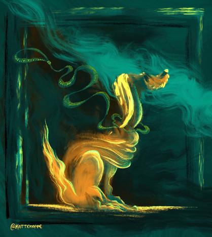 One Stroke Dog - illustration