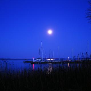 moon over Humlebaek Harbor  blue.jpg