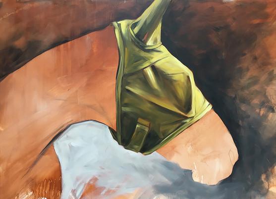 Flymask Series Untitled 6 (Lime Green Mask)