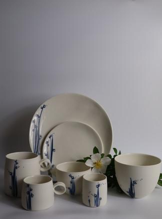 Collection blanc-bleu