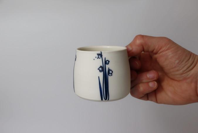 Tasse blanc-bleu