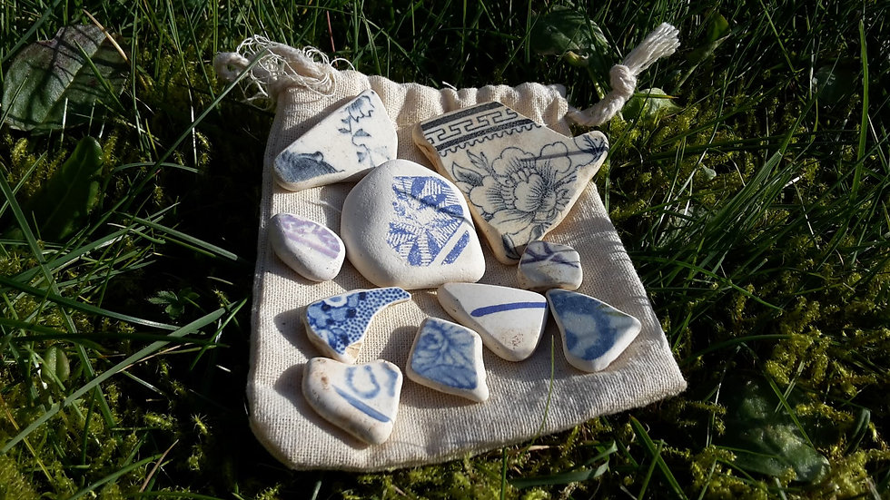 Water Worn Pottery Lot