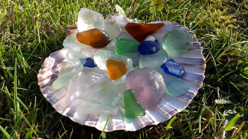 Scottish Sea Glass – Blues, Purples, Greens and Whites