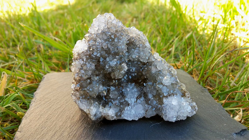 Scottish Smoky Quartz Crystal Drusy