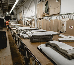 image of fabric table inside the warehouse