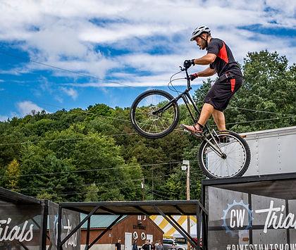 Doing huge stunts at a fair
