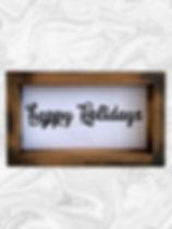 """Happy Holidays 7"""" x 24"""""""