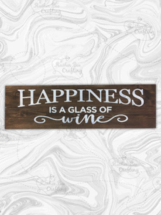 Happiness is a glass of wine
