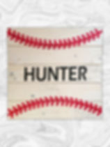 Baseball with name and number