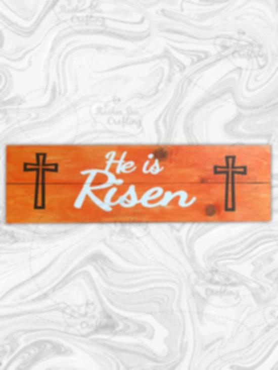 """He is risen 7"""" x 24"""""""