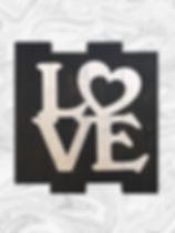 """LOVE 14"""" x 14"""""""