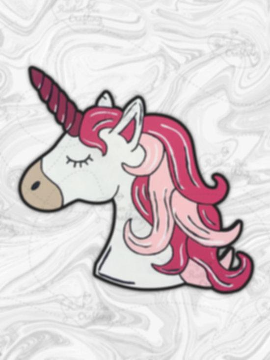 """Unicorn Side View 14"""" Design"""
