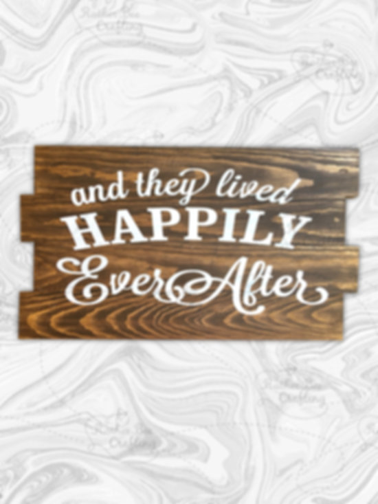 And they lived happily ever after. Groom and brides names