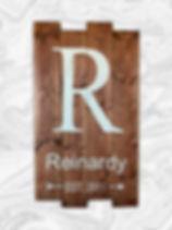 Monogram. Last name and established year