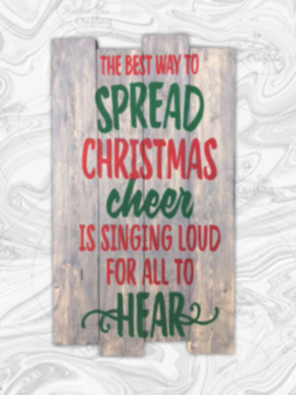 """The best way to spread Christmas cheer is singing loud for all to hear. 14"""" x 24"""""""