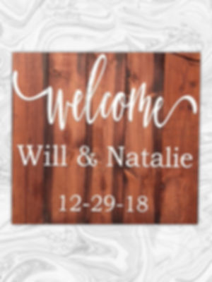 Welcome. State names and wedding date at checkout