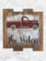 Vintage truck with family name