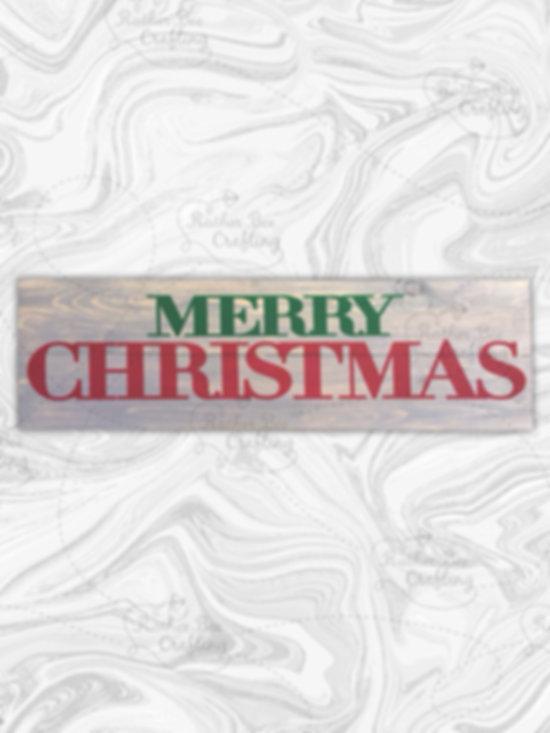 "Merry Christmas 7"" x 24"""