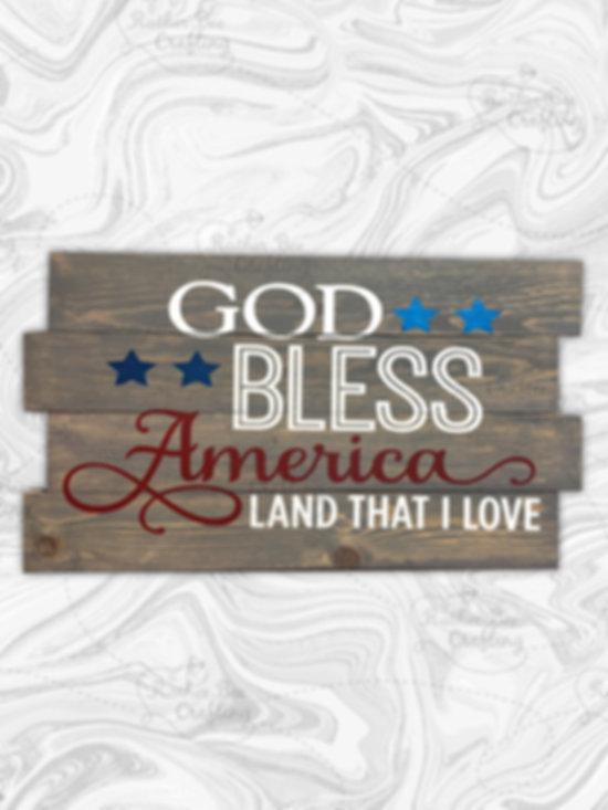 God Bless America, land that I love