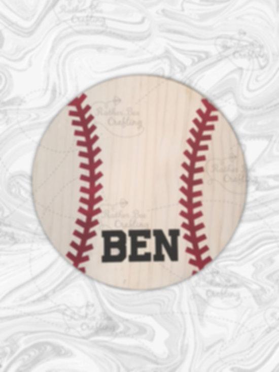 "12"" Baseball or Softball with name, team or number"
