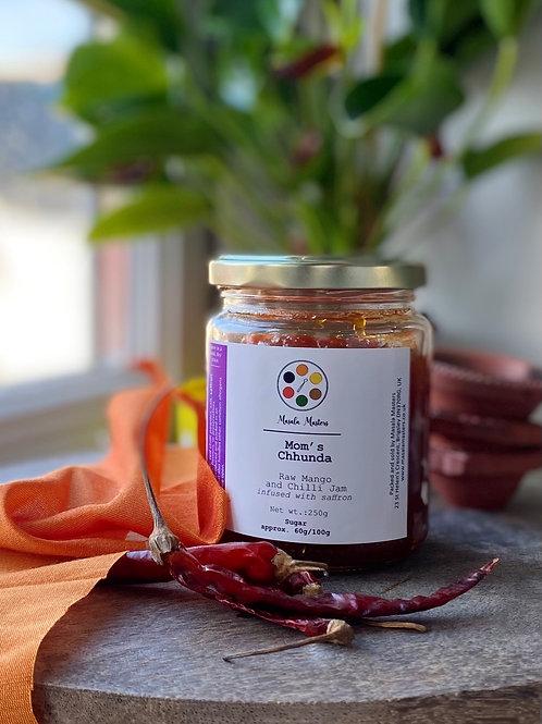 Mom's Chhunda (raw mango, chilli, and saffron jam)
