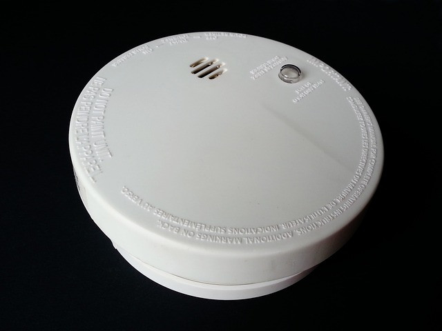 white smoke alarm