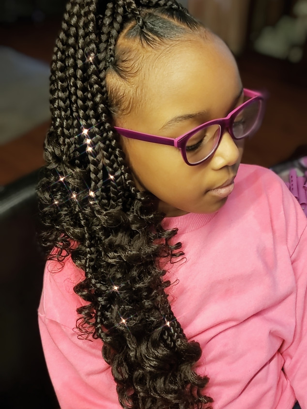 DMV Pro Braids Kids Braided Ponytail