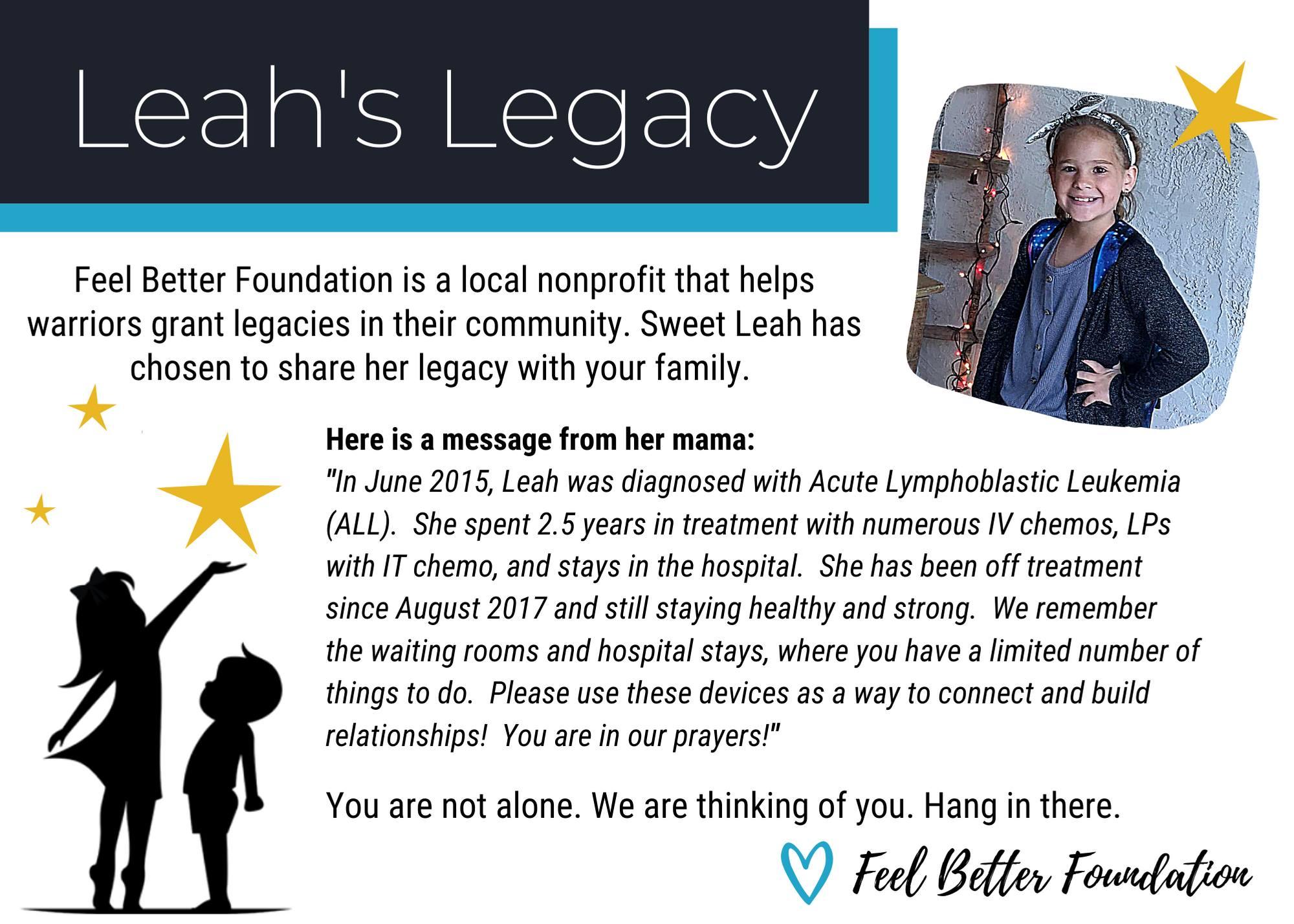 Leah's Legacy