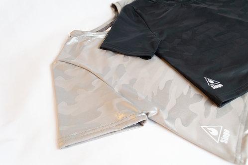 Camo Crop Top (Black)