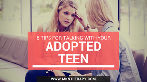 image of young woman in distress talking to parent about adoption