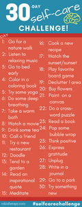 [Infographic] The 30 Day Self-Care Challenge