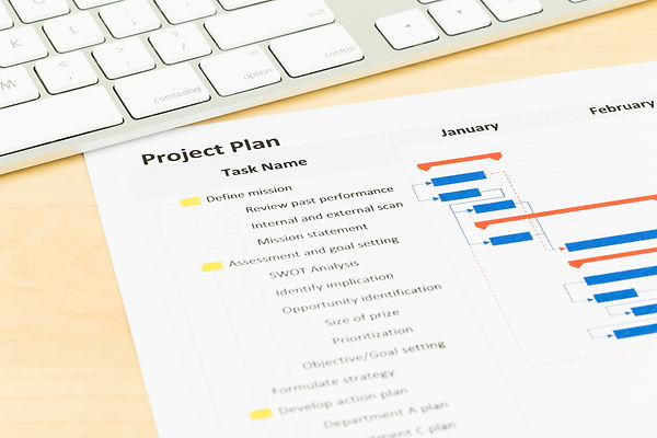 Project management and gantt chart with
